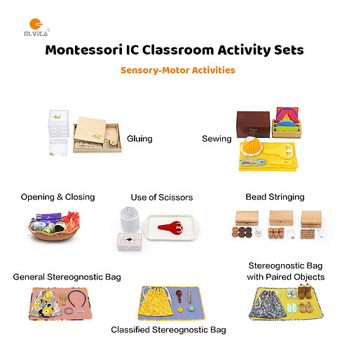 10 Sensory-motor Activities for IC Montessori Classroom Start-up package