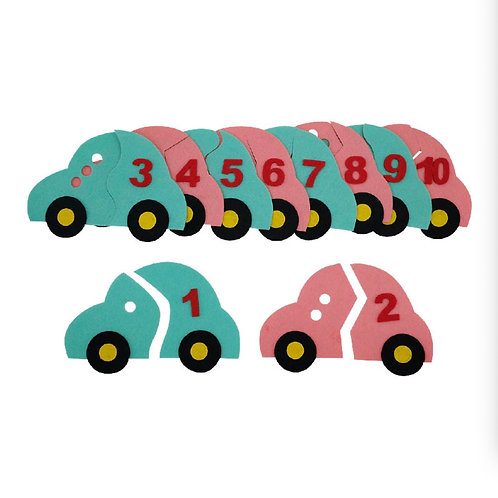 Matching Numbers Cars