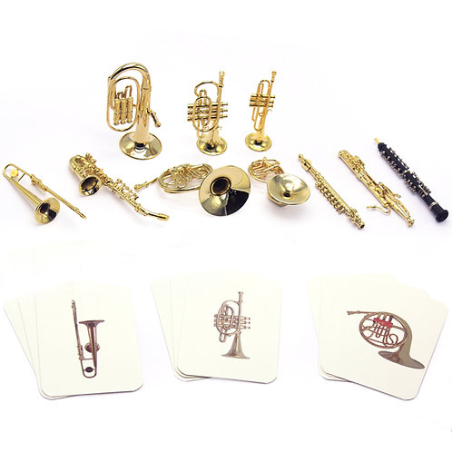 High Quality Mini Western Instruments with Identical Cards Set of 10