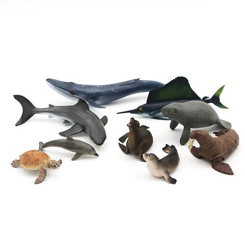 Animal Replicas:Ocean, Set of 9 Sea Life Animals