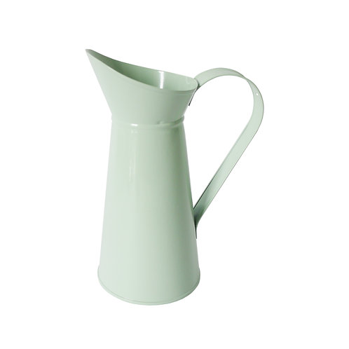 Metal Pitcher Pale Green