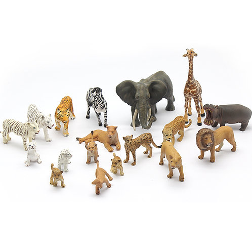 Animal Replicas: Wildlife Set of 18