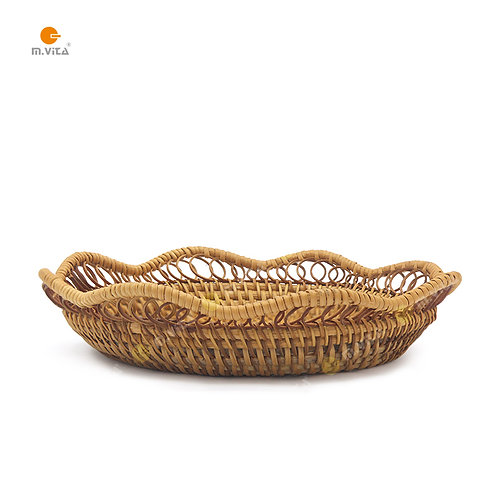 Rattan Flower Shaped Basket