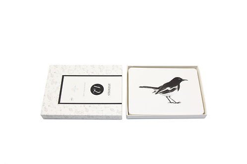Black and White Cards Animals