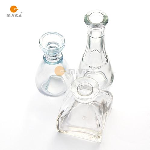 Mini Glass Vasesbottles Set Of 3 Extra Thick