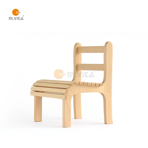 Montessori Slatted Toddler Chair Natural Wood