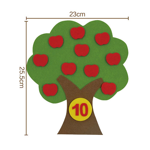 Matching Numbers Apple Tree