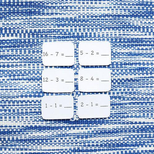 Math Ticket Subtraction