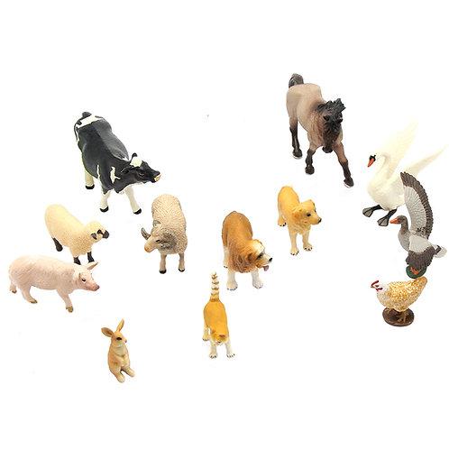 Animal Replicas: Farm Set of 12