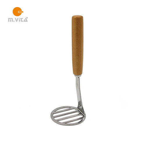 Small potato masher wooden handle