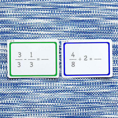 FRACTION PROBLEMS: ALL OPERATIONS