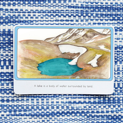 Land and Water Forms Cards 16 Cards