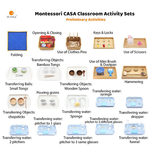 20 Preliminary Activities for CASA Montessori Classroom Start-up package