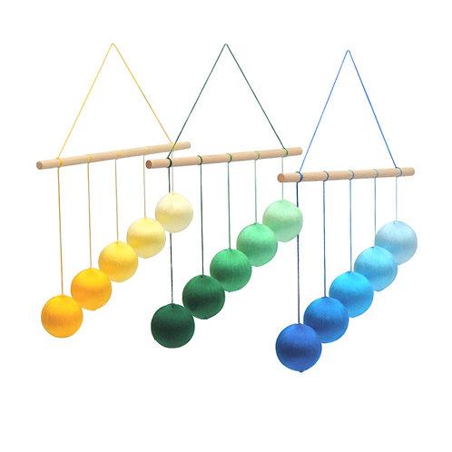 Silk Gobbi Montessori Visual Mobile Color Options Blue Green Yellow