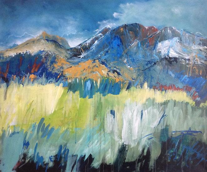 Berglandschaft in blau