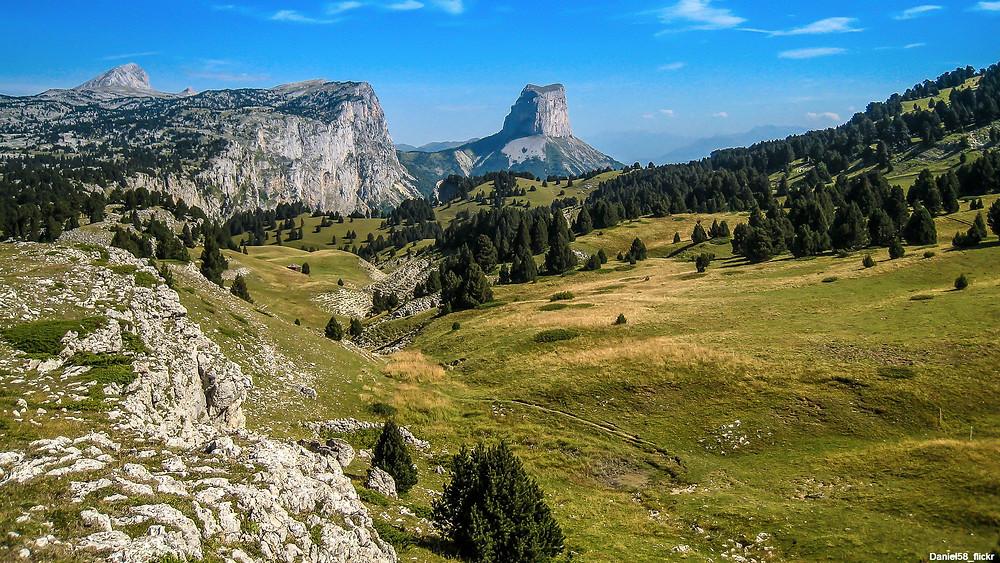 Vue sur le Mont Aiguille - Vercors