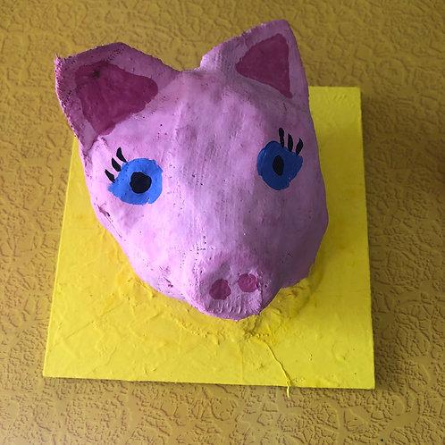 Papier Mache Animal Head