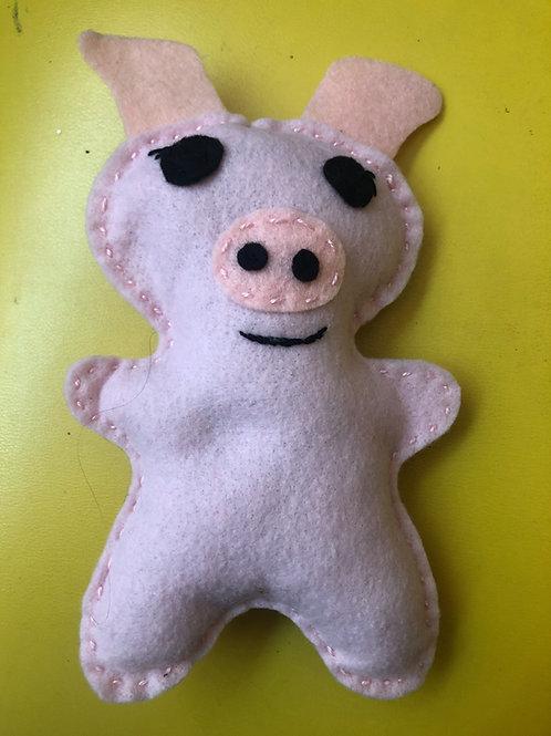 Sew a Farmyard Friend Pig