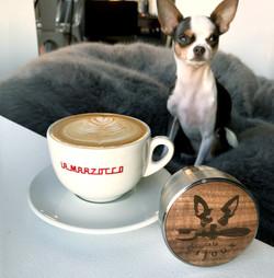 Bijoux, Cappuccino, and Tamper