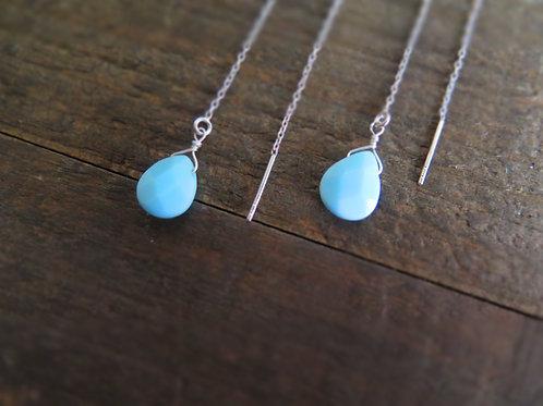 Blue agate threaders
