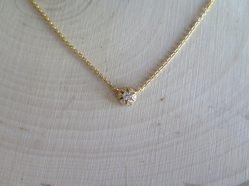 Tiny stacking sparkle necklace