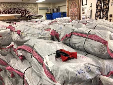 イランからペルシャ絨毯が届きました