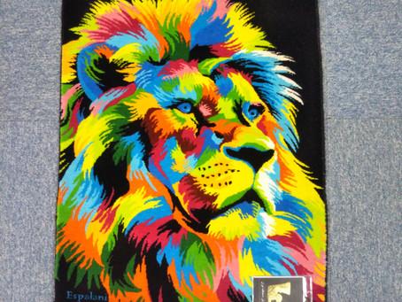 絵画絨毯(ライオン)