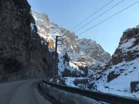 イランの雪景色