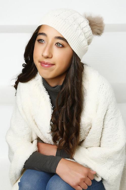 Alpaca Hat with Pom Pom