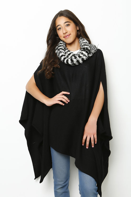 Alpaca Poncho Sleves Cut