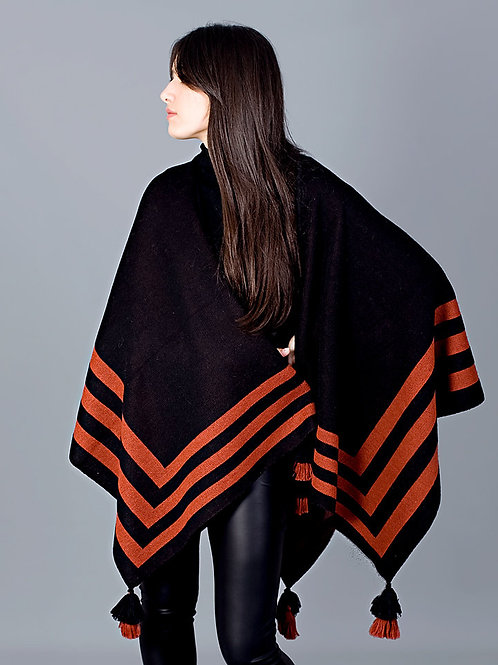 Alpaca Stripe Cape