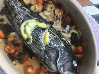 Whole Roasted Fish Mirepoix