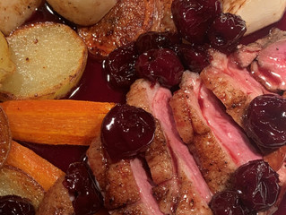 Duck Baharat with Cherry Sauce