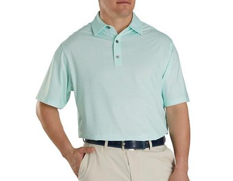 Men's FJ Lisle Plaid Print Self-Collar Polo - Mint
