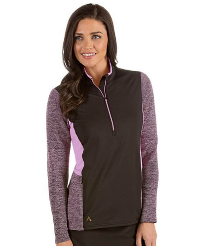 Ladies' Antigua Paradox Pullover - Black/Plum
