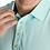 Thumbnail: Men's FJ Lisle Solid with Contrast Trim Polo - Mint-Deep Blue