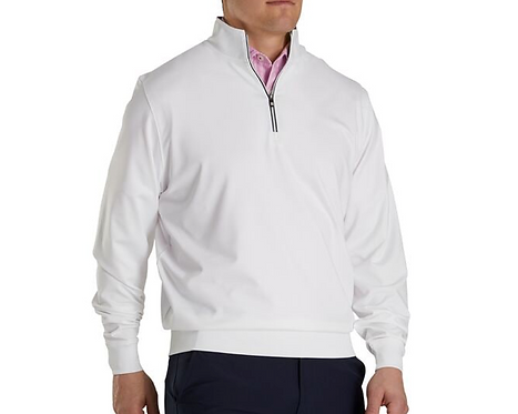FJ Performance Half Zip - White