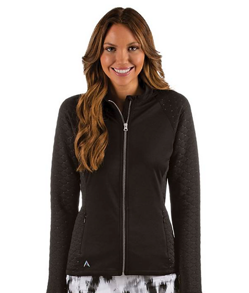 Ladies Antigua Cameo Jacket - Black/Silver