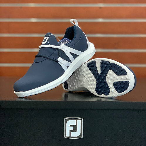 Ladies FJ Leisure Slip-On - Navy/White