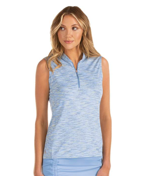 Ladies' Antigua Payson Sleeveless Polo - Denim Multi