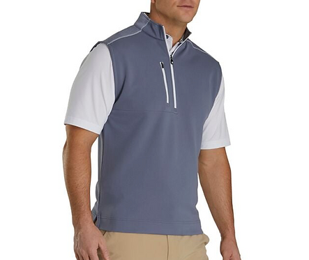 Men's FJ Quarter Zip Heather Blocked Vest - Slate