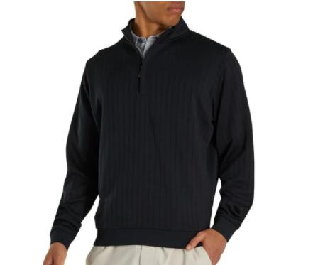 FootJoy Drop Needle Sweater - BLACK
