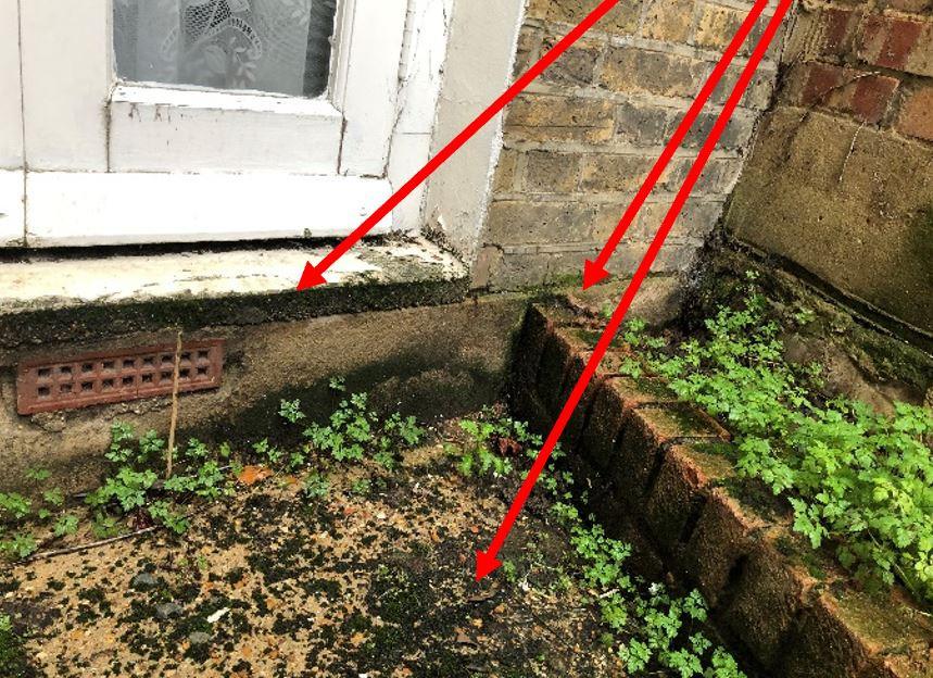 external area causing internal damp