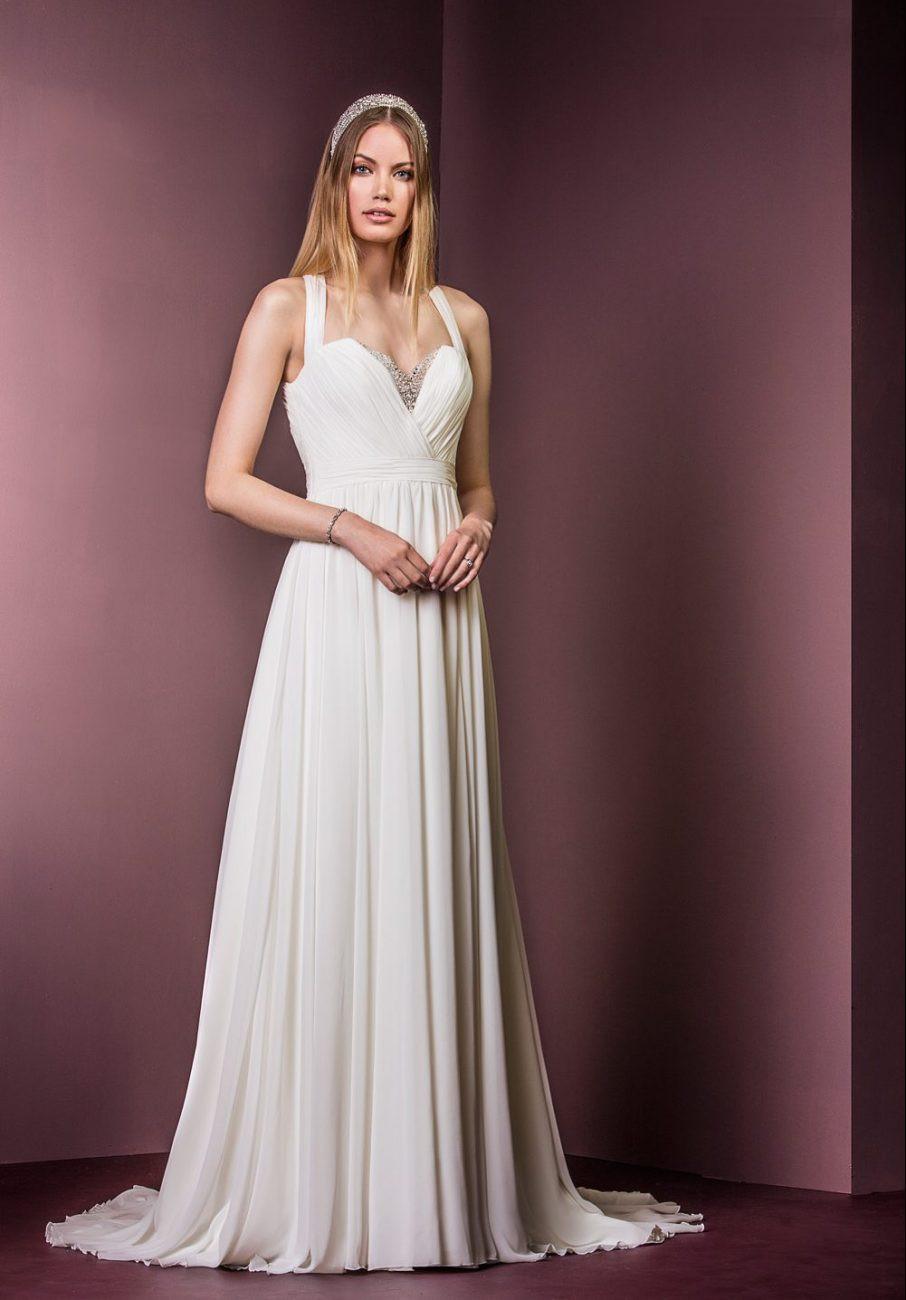 summer wedding dress in chiffon
