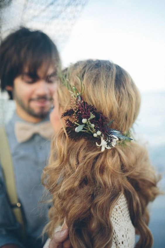 autumn wedding hair