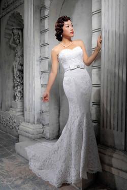 White Rose Bridal Mimosa