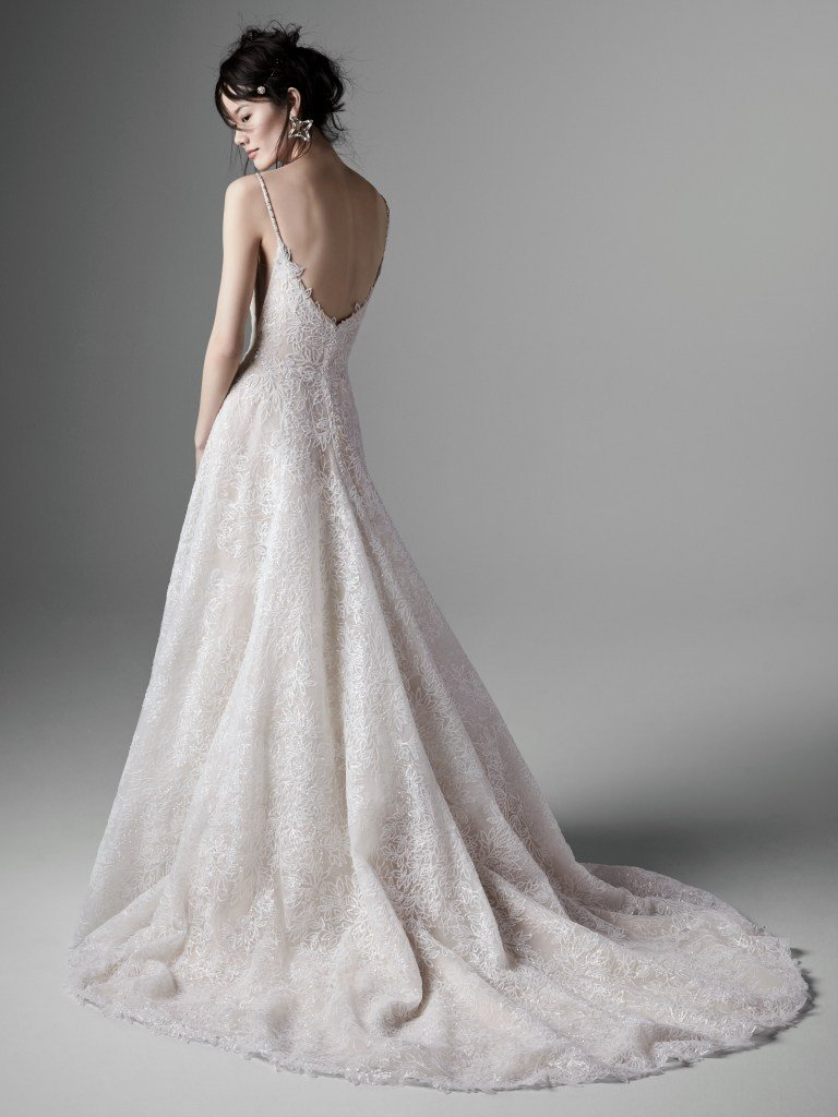 modern aline wedding dress by Sottero and Midgley