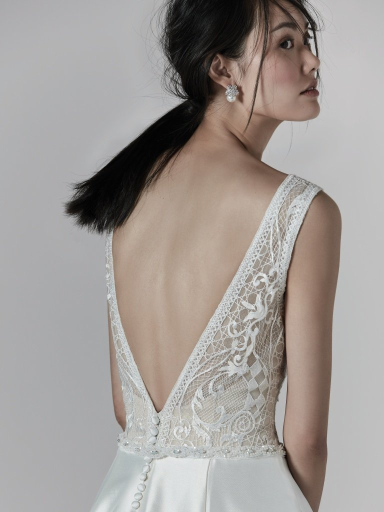 aline wedding dress by Sottero and Midgley