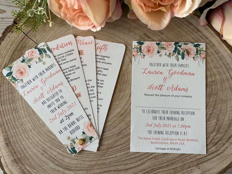 wedding stationery in bedfordshire
