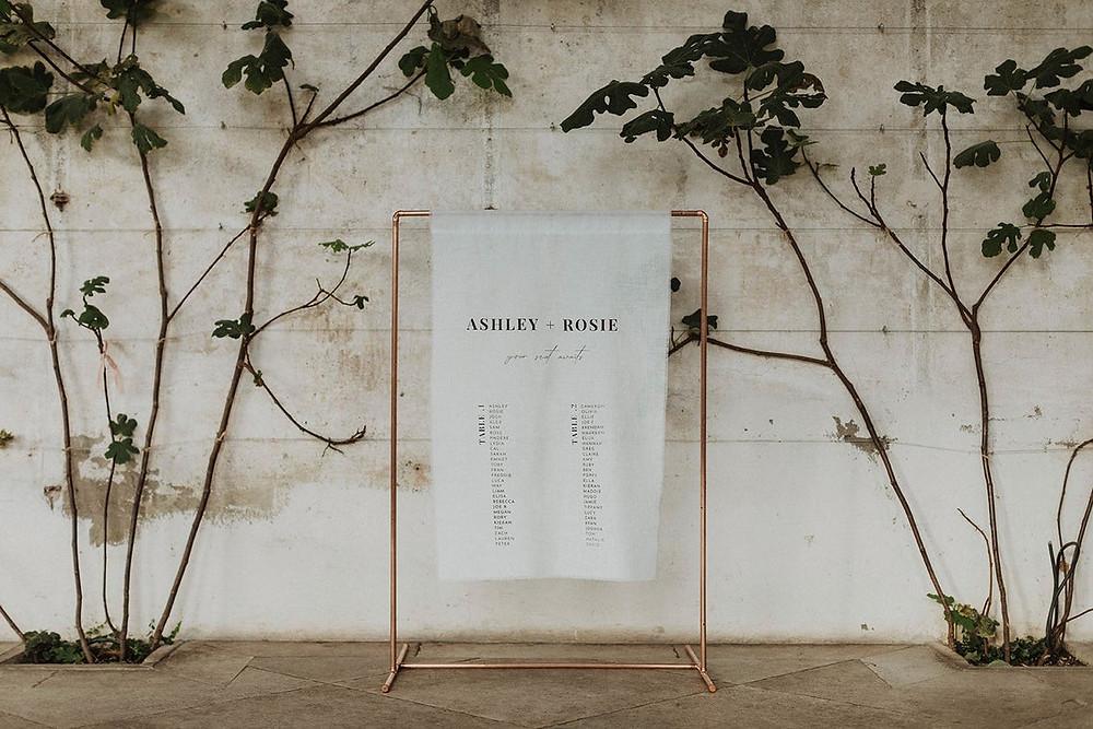 boho wedding sign